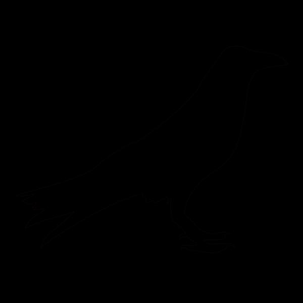 Raven Outline PNG Clip art