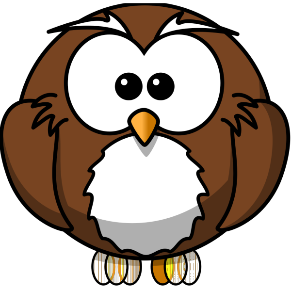Little Brown Owl PNG Clip art