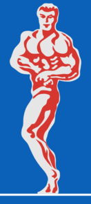 Bodybuilder Blue