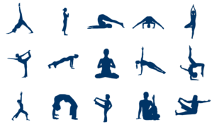 Lots Of Yoga Poses PNG Clip art