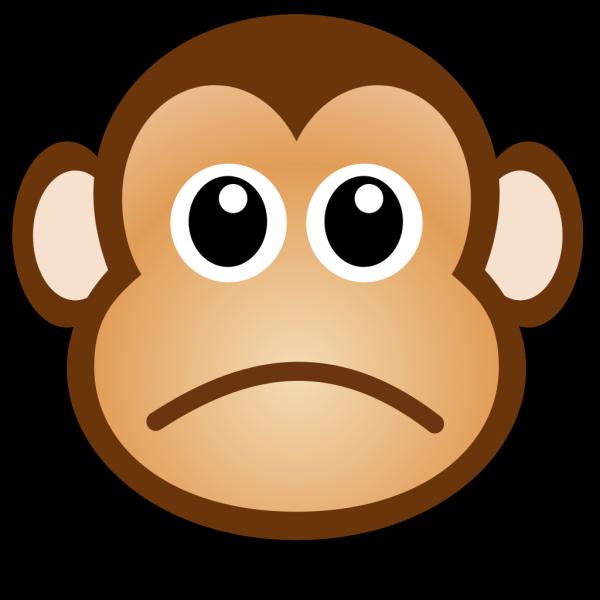 Sad Monkey PNG Clip art