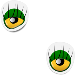 Dogface Jim Monster Eye Sticker PNG images