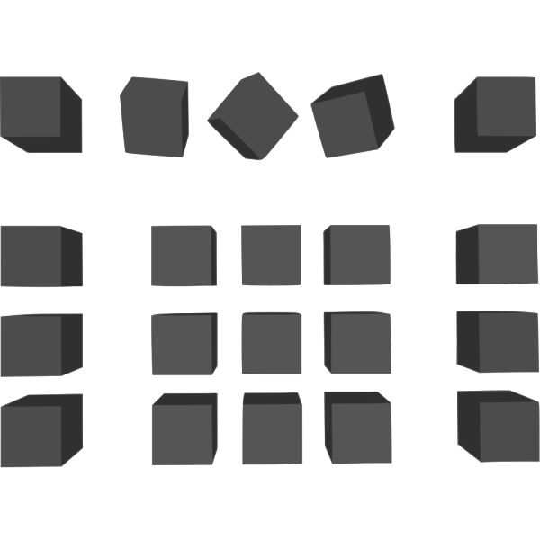 Dogface Jim Simple Grey Cubes PNG images