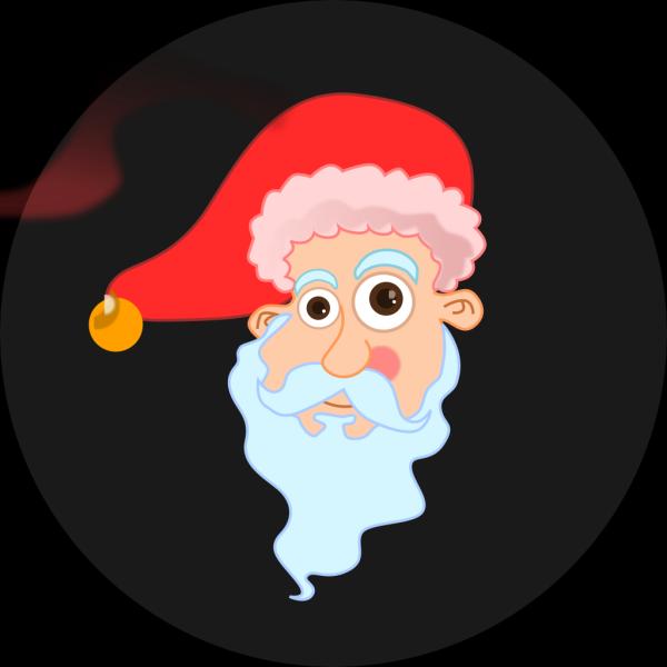 Kablam Santa Head PNG Clip art