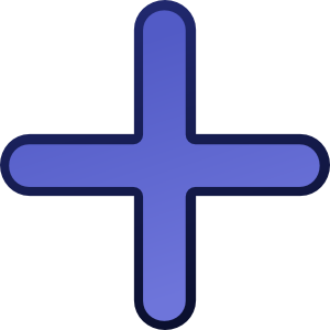 Blue Cross 2 PNG icons