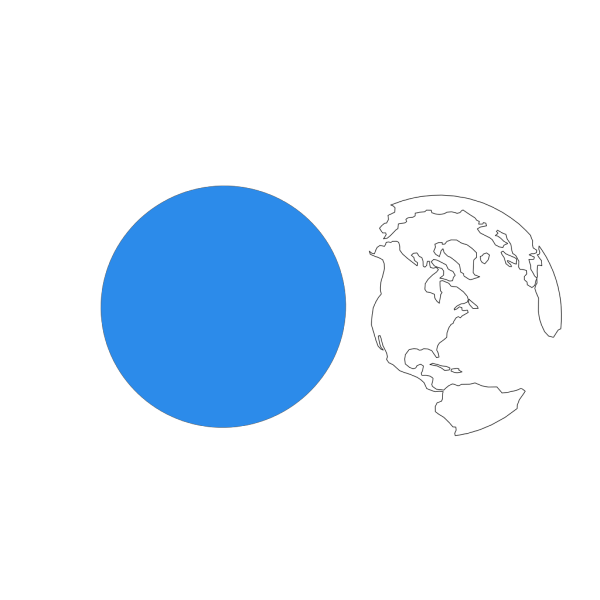 Blue Earth Separate PNG Clip art