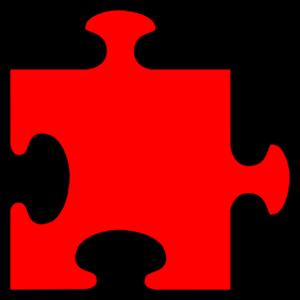 Blue Border Puzzle Piece PNG Clip art
