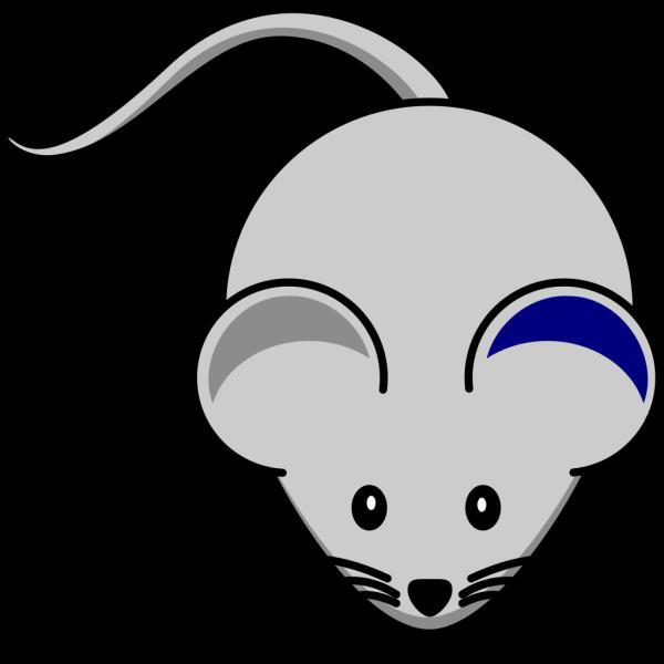 Blue Ear Mouse PNG Clip art