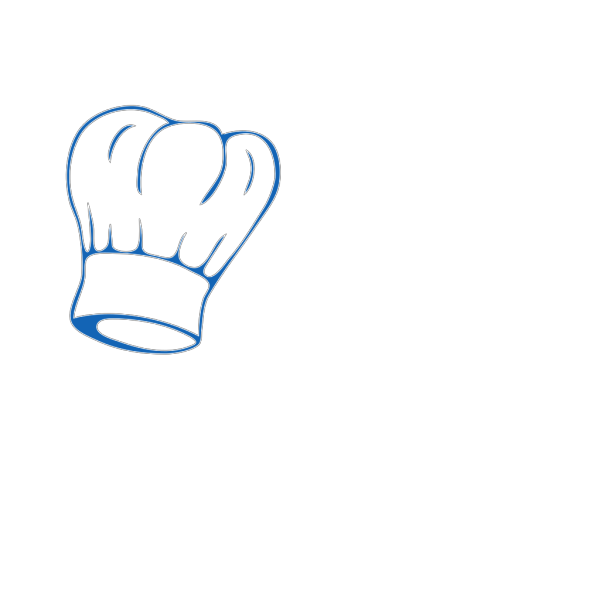 Chef Hat Deep Blue PNG Clip art