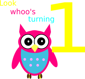 Owl 1st Birthday PNG Clip art
