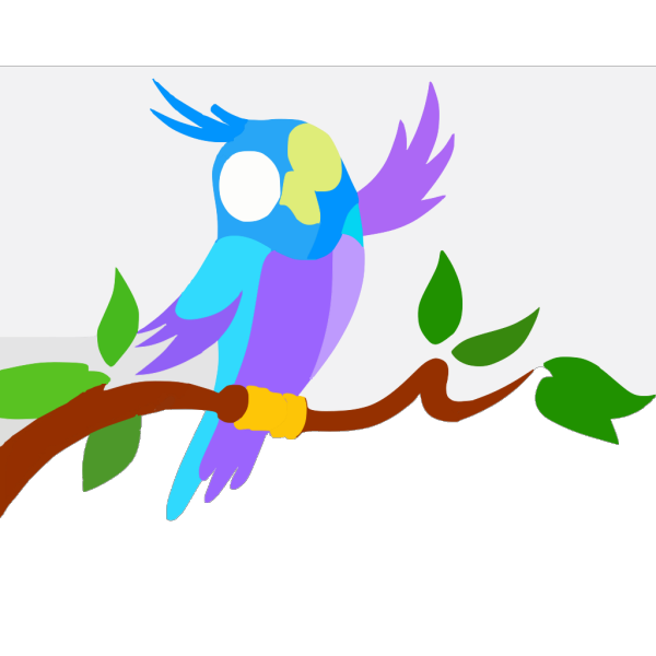 Cute Cartoon Parrot Full PNG Clip art