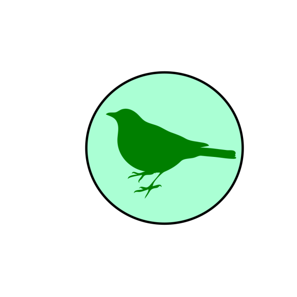 Emerald Circle Bird PNG Clip art