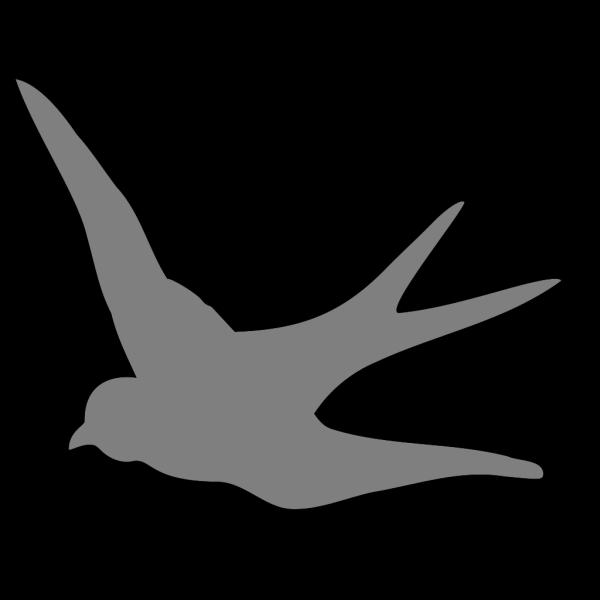 Dark Gray Swallow PNG Clip art