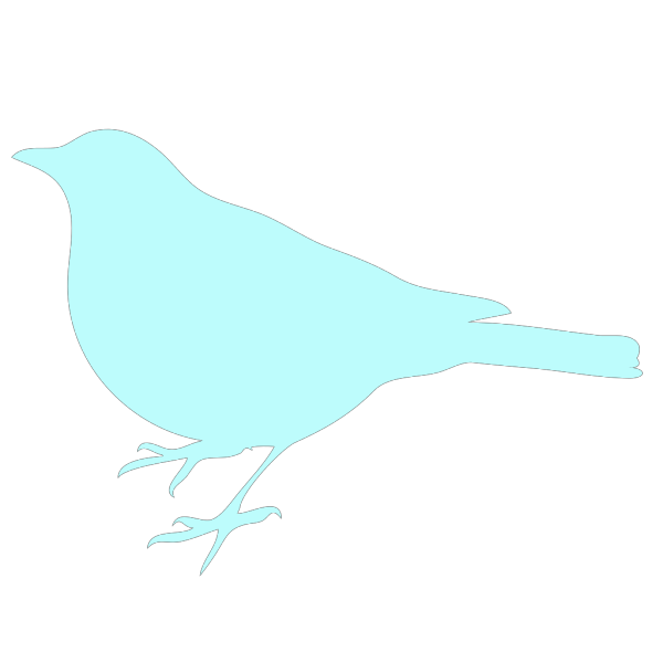 Sea Foam Blue Bird PNG Clip art