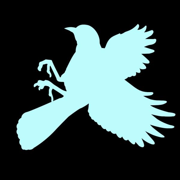 Blue Landing Bird PNG Clip art