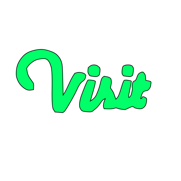 Decorative Visit Word PNG Clip art