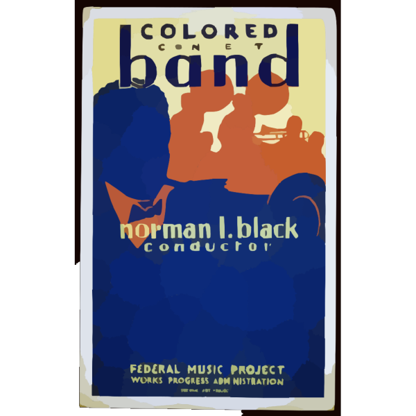 Colored Concert Band, Norman L. Black, Conductor PNG Clip art