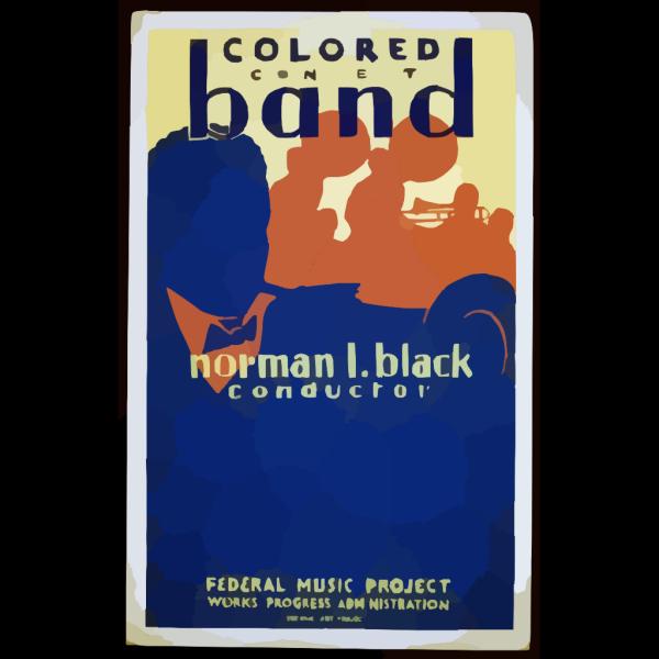 Colored Concert Band, Norman L. Black, Conductor PNG Clip art