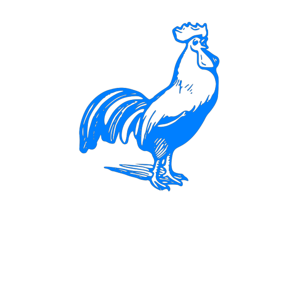 Blue Rooster PNG Clip art