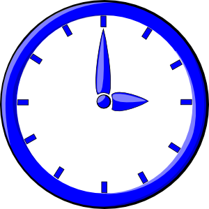 A Blue And Chrome Clock