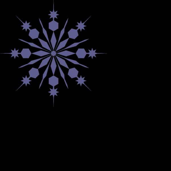 Snowflakes Silhouette