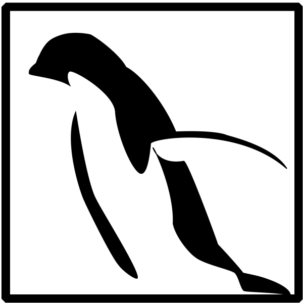 Penguin On White Background PNG Clip art