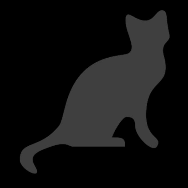 Darkgraycat PNG Clip art