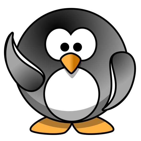 Waving Penguin PNG images