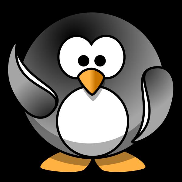 Waving Penguin PNG Clip art
