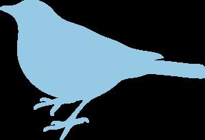 Soft Blue Bird Silhouette PNG Clip art