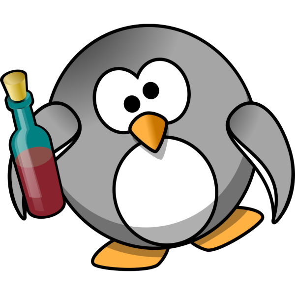 Drunk Penguin PNG images