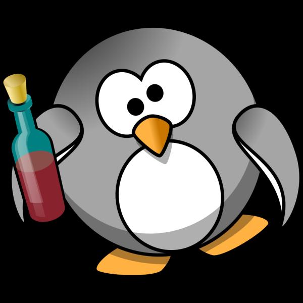 Drunk Penguin PNG Clip art