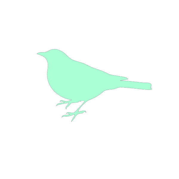 Mint Bird Silhouette Dark PNG Clip art
