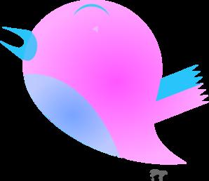 Pink Blue Bird