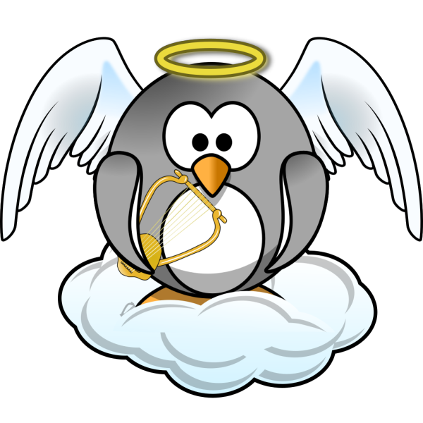 Heavenly Penguin PNG Clip art