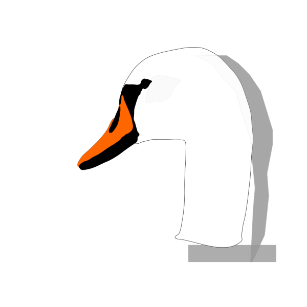 Swan Head PNG Clip art