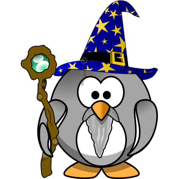 Magician Penguin PNG Clip art