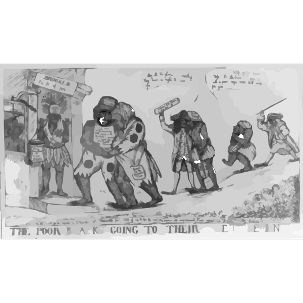 The Poor Blacks Going To Their Settlement PNG Clip art