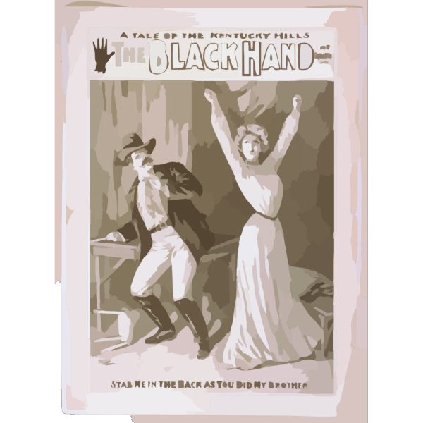 A Tale Of The Kentucky Hills, The Black Hand By W.b. Hurst. PNG Clip art