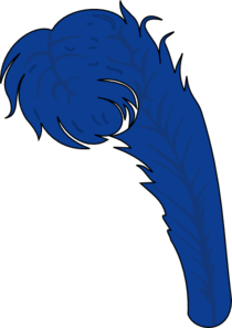 Blue Feather PNG Clip art