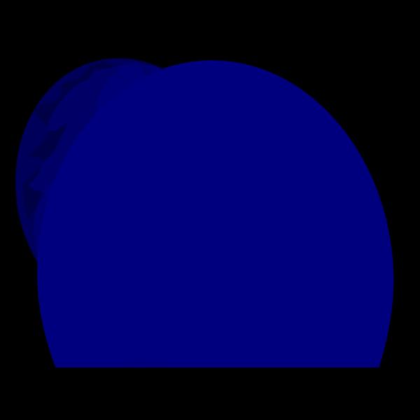 Straight Flat Blue Balloon 2 PNG Clip art