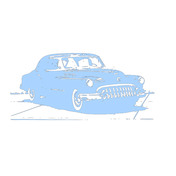 Blue Vintage Car PNG images