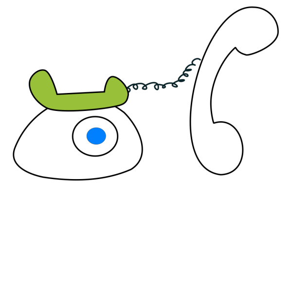 Cartoon Phone Outline  PNG Clip art