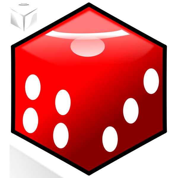 Red Die 5 PNG Clip art