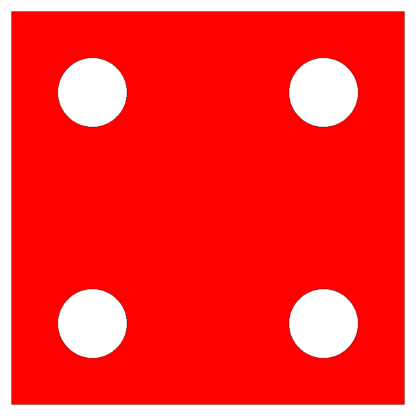 Red Die 4 PNG icons