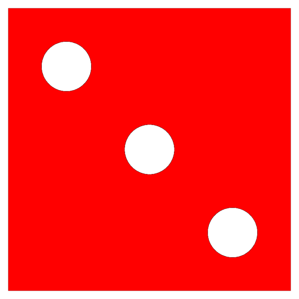 Red Die 3 PNG icons