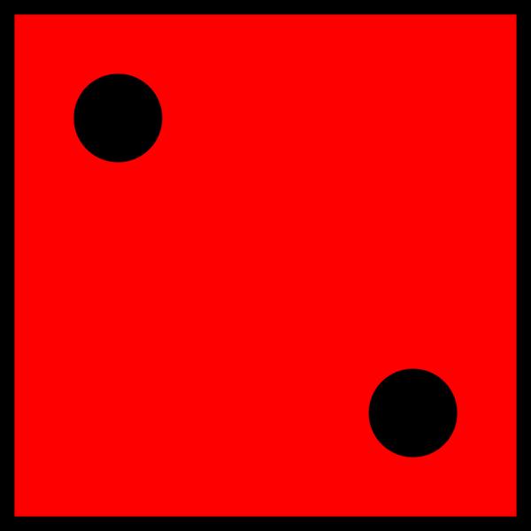 Red Die 2 PNG icons