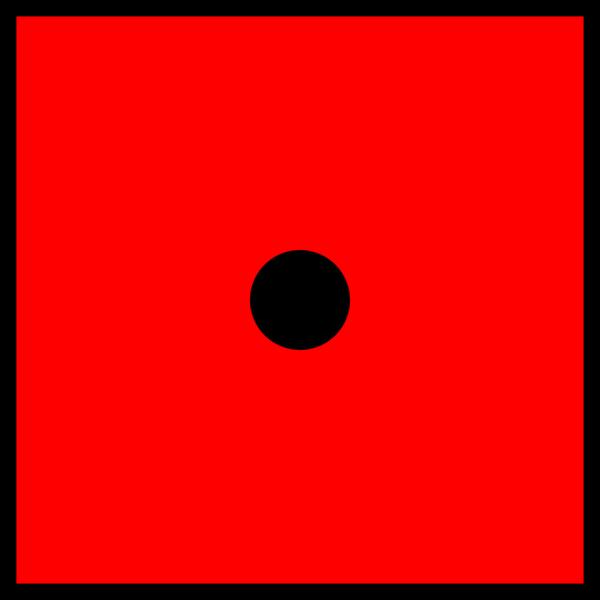 Red Die 1 PNG Clip art