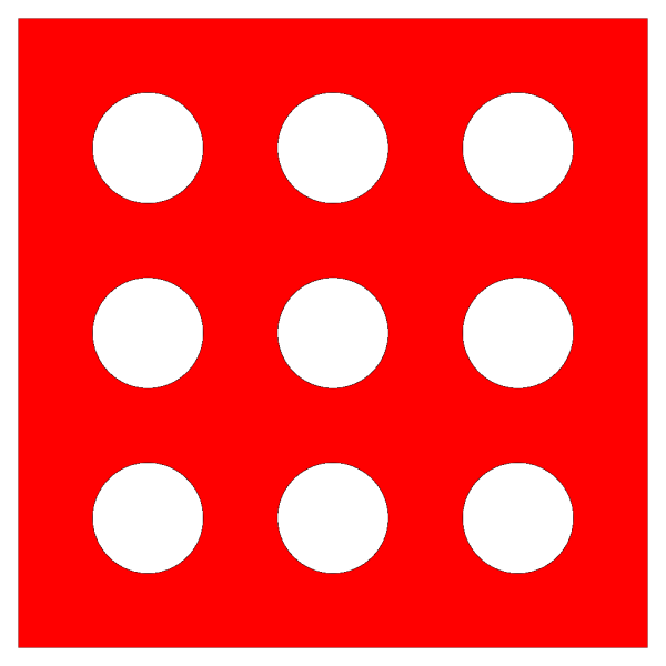 Red Die 9 PNG Clip art
