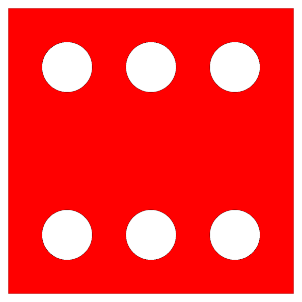 Red Die 6